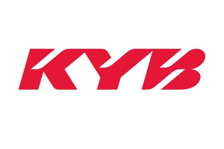 Kayaba Gabel Aufkleber KYB Racing Suspension TT 24x8,5cm transparent rot